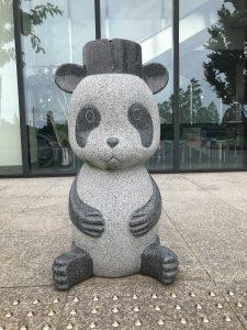 管理事務所前パンダ