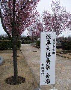 柏中央霊園「春の合同慰霊祭」
